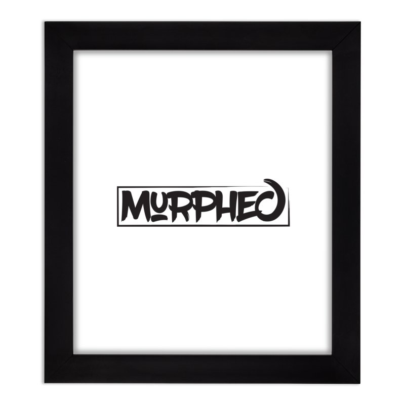 Murphed Logo (Black on White) Home Framed Fine Art Print by Murphed