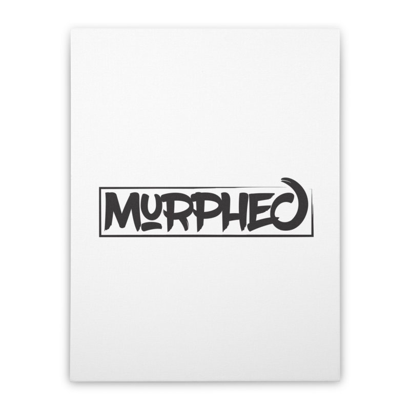 Murphed Logo (Black on White) Home Stretched Canvas by Murphed