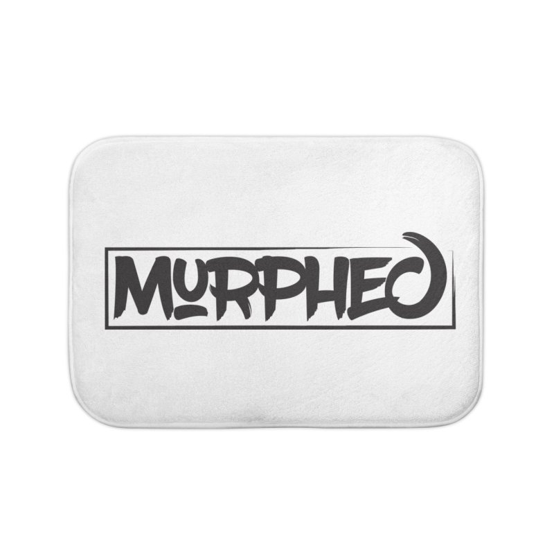 Murphed Logo (Black on White) Home Bath Mat by Murphed