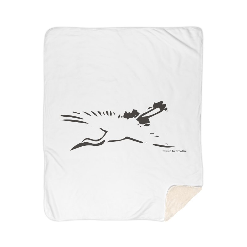 Music to breathe - Bird Home Sherpa Blanket Blanket by Boutique