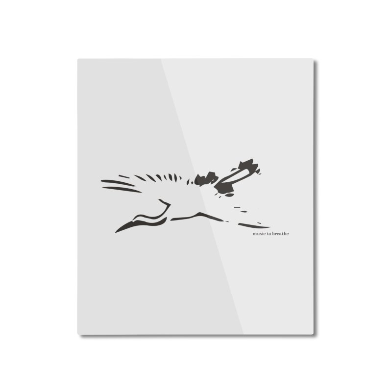 Music to breathe - Bird Home Mounted Aluminum Print by Boutique
