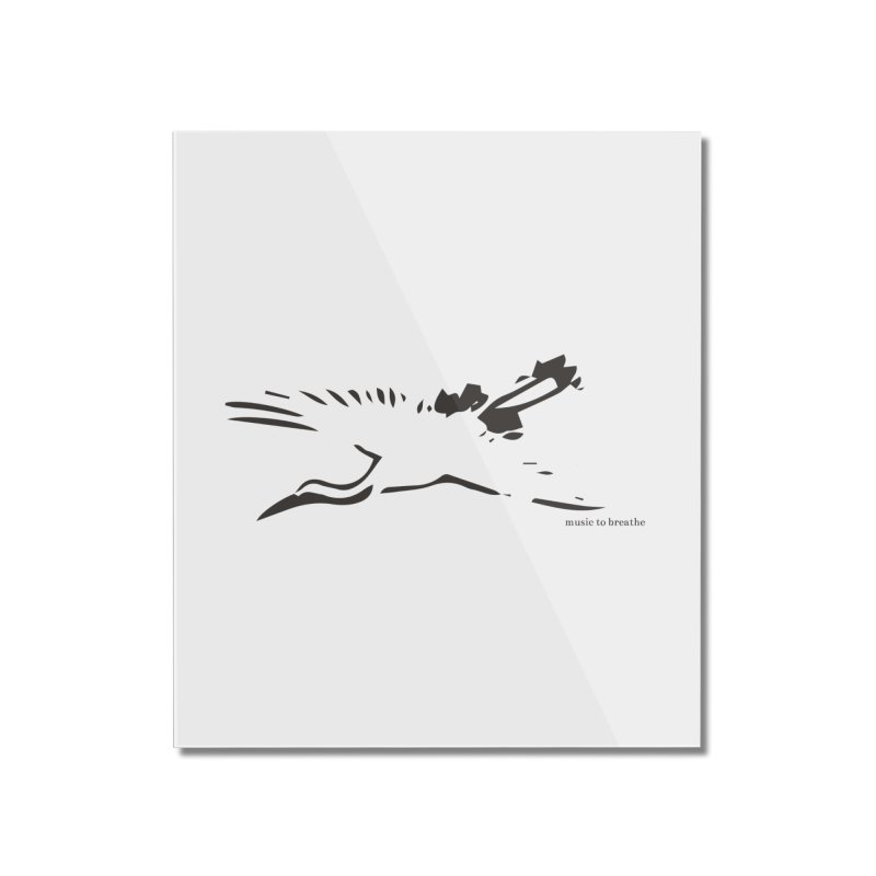 Music to breathe - Bird Home Mounted Acrylic Print by Boutique