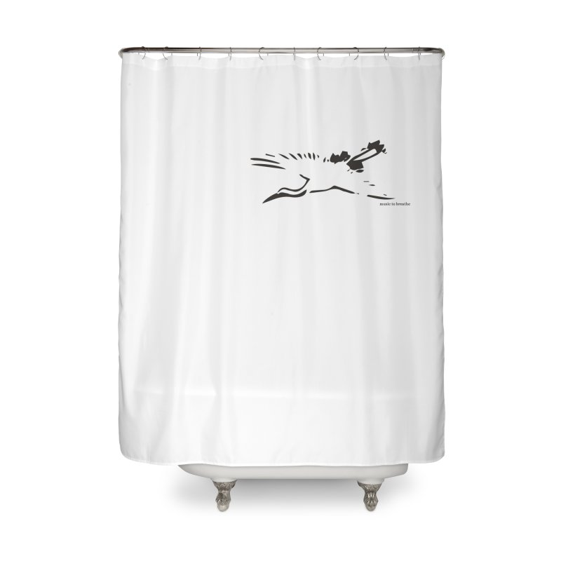 Music to breathe - Bird Home Shower Curtain by Boutique
