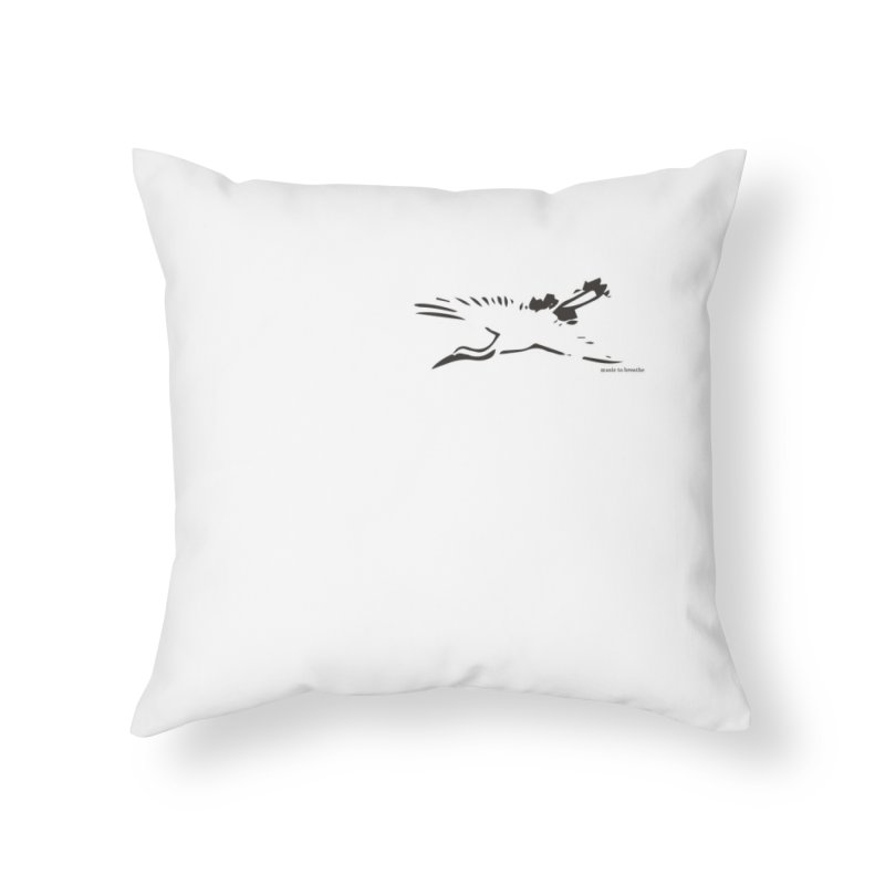 Music to breathe - Bird Home Throw Pillow by Boutique