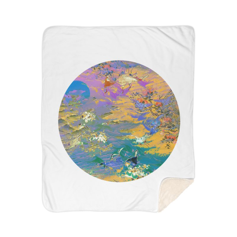 Music to breathe - Circle Home Sherpa Blanket Blanket by Boutique