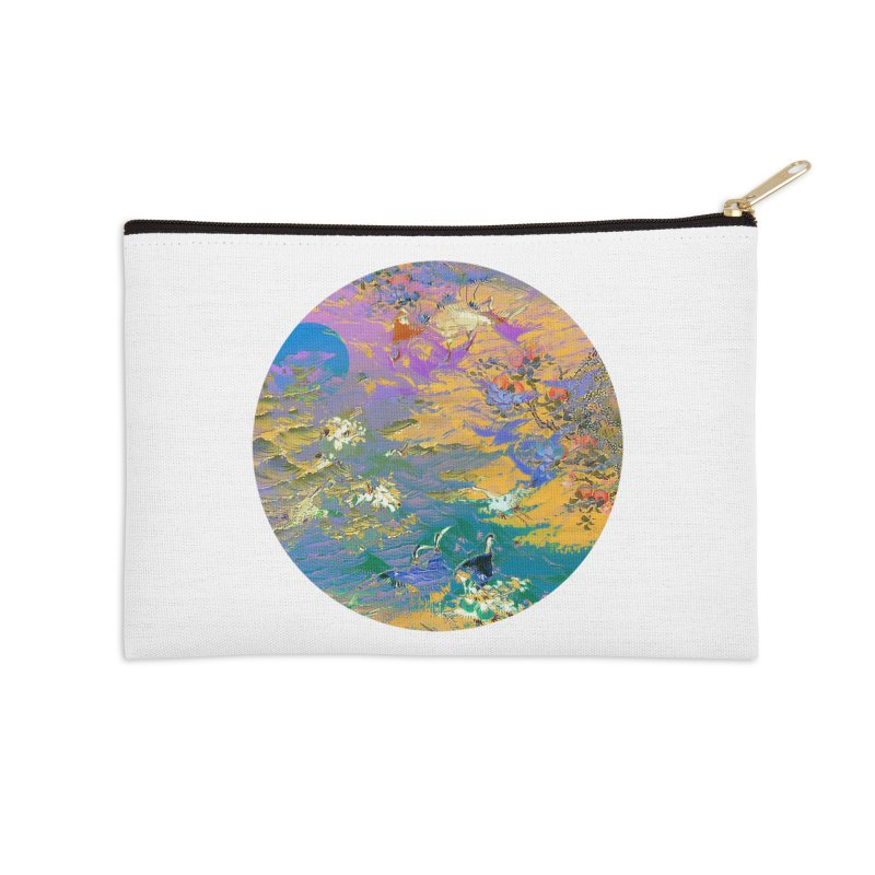 Music to breathe - Circle Accessories Zip Pouch by Boutique
