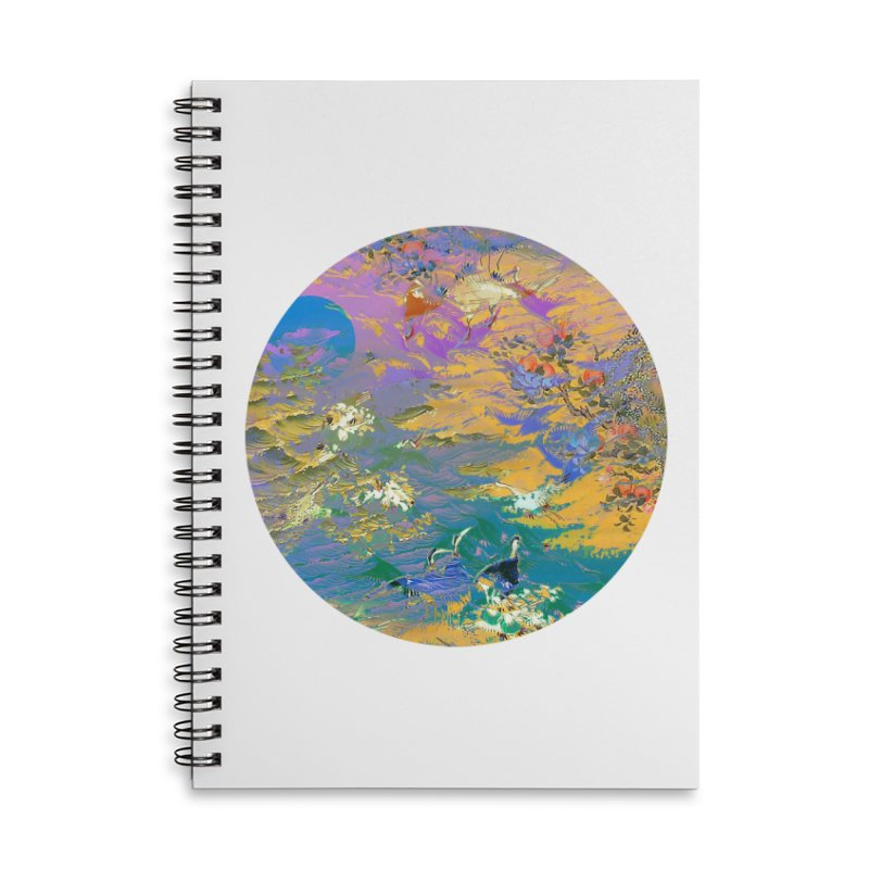 Music to breathe - Circle Accessories Lined Spiral Notebook by Boutique