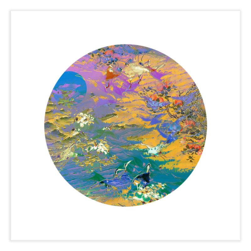 Music to breathe - Circle Home Fine Art Print by Boutique