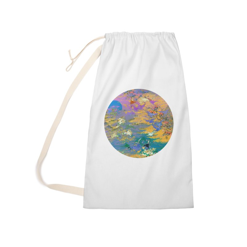 Music to breathe - Circle Accessories Laundry Bag Bag by Boutique