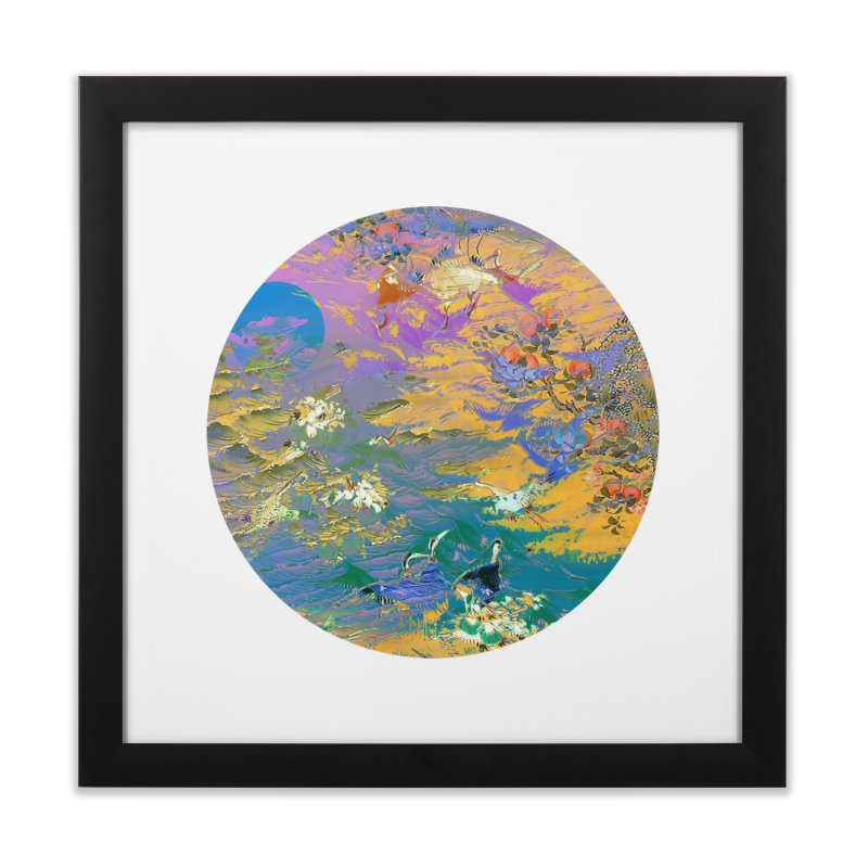 Music to breathe - Circle Home Framed Fine Art Print by Boutique