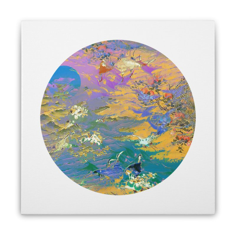 Music to breathe - Circle Home Stretched Canvas by Boutique