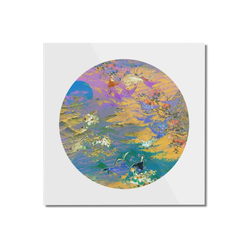 Music to breathe - Circle Home Mounted Acrylic Print by Boutique