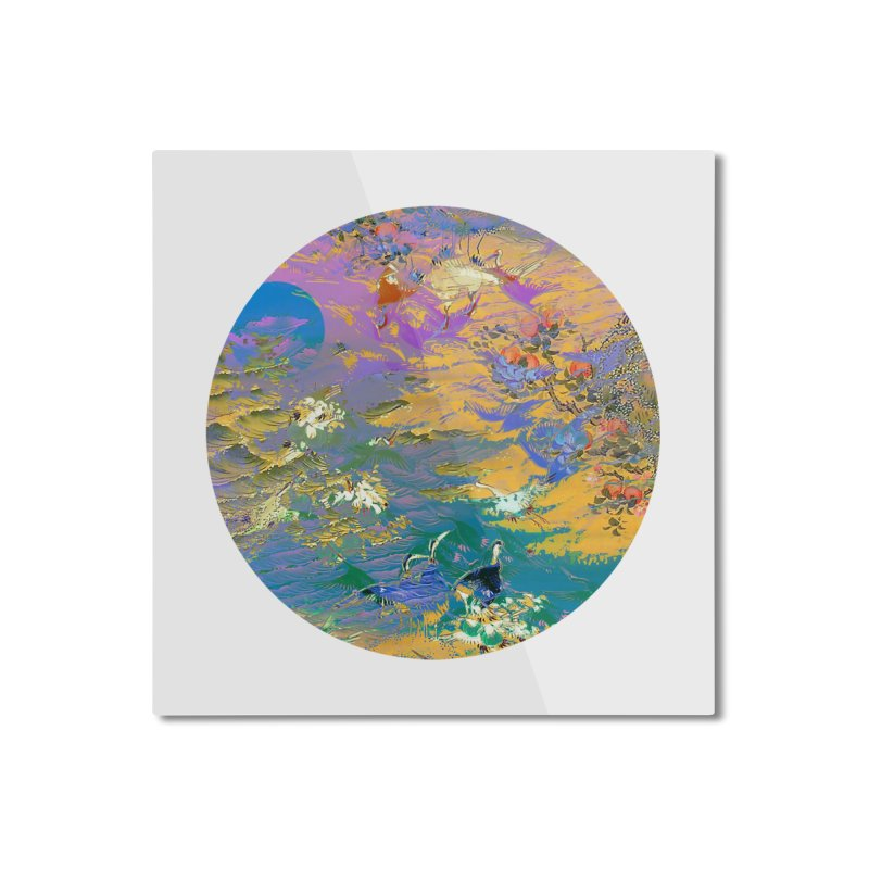 Music to breathe - Circle Home Mounted Aluminum Print by Boutique