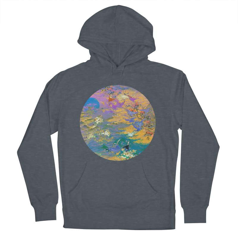 Music to breathe - Circle Men's French Terry Pullover Hoody by Boutique