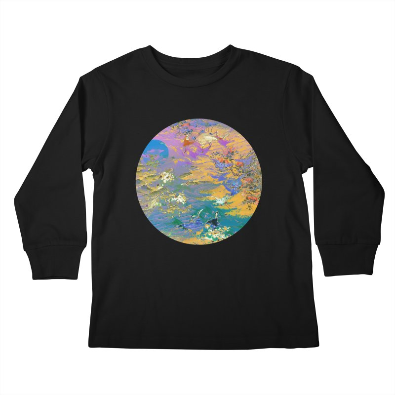 Music to breathe - Circle Kids Longsleeve T-Shirt by Boutique