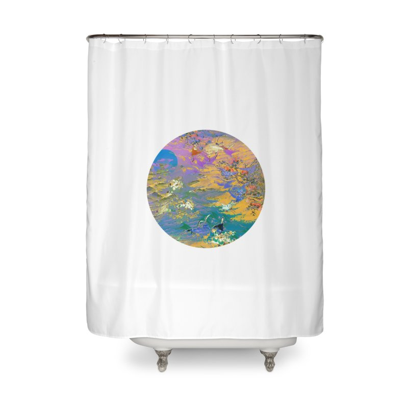 Music to breathe - Circle Home Shower Curtain by Boutique