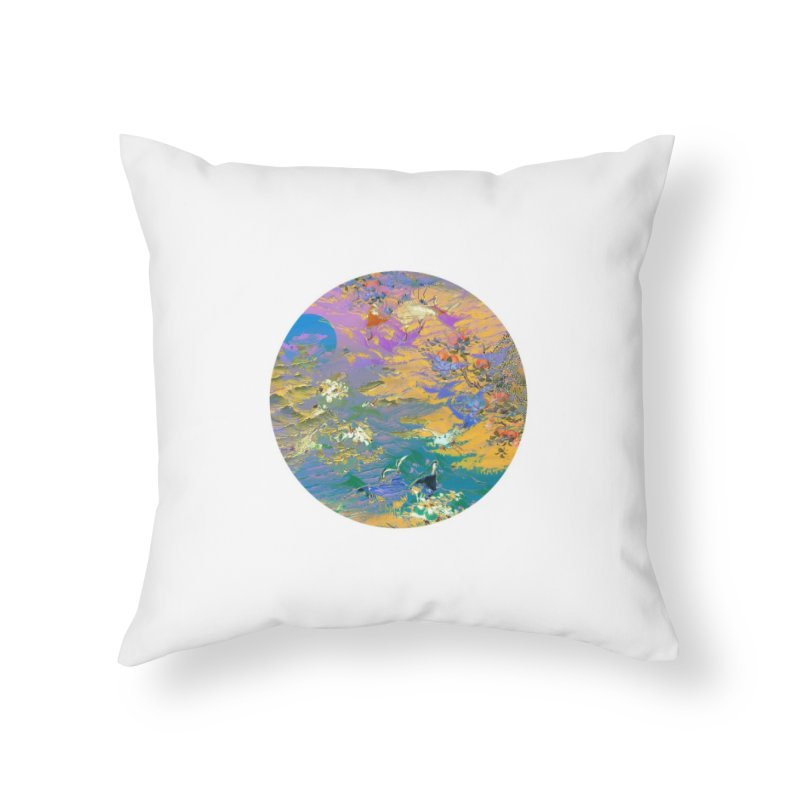 Music to breathe - Circle Home Throw Pillow by Boutique