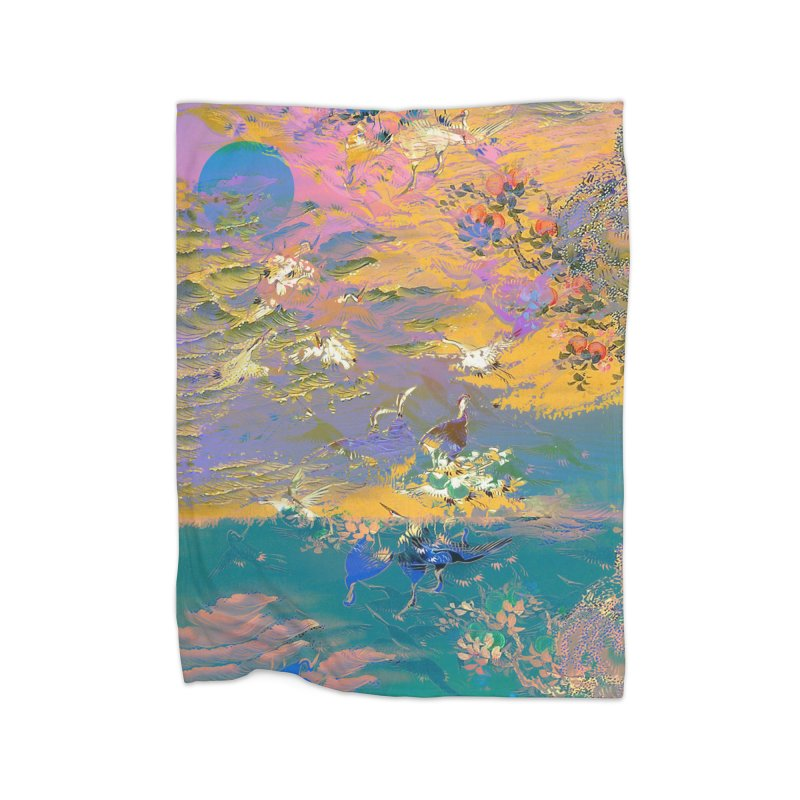 Music to breathe - Rectangle Home Fleece Blanket Blanket by Boutique