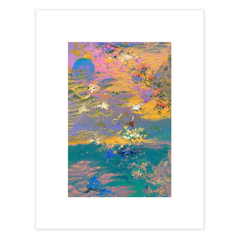 Music to breathe - Rectangle Home Fine Art Print by Boutique