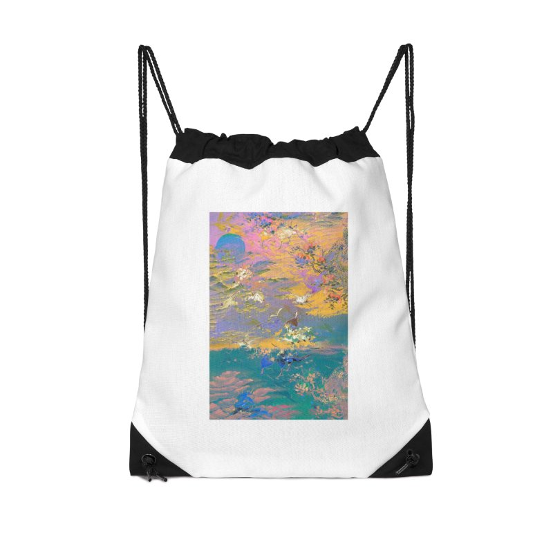 Music to breathe - Rectangle Accessories Drawstring Bag Bag by Boutique