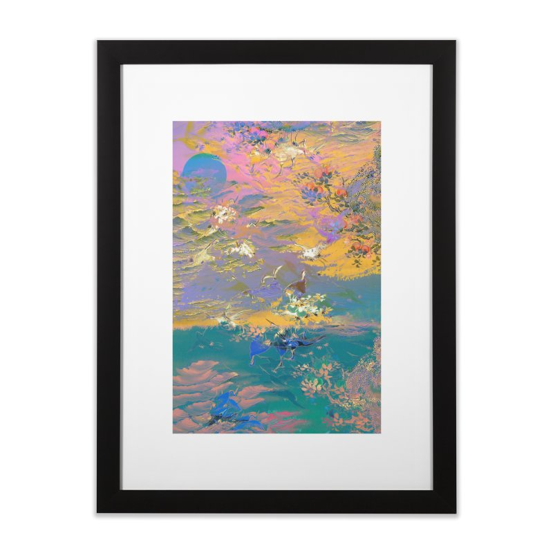 Music to breathe - Rectangle Home Framed Fine Art Print by Boutique