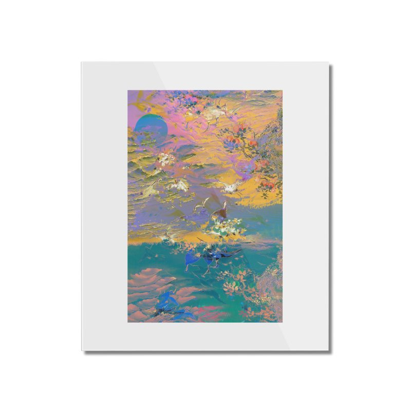 Music to breathe - Rectangle Home Mounted Acrylic Print by Boutique