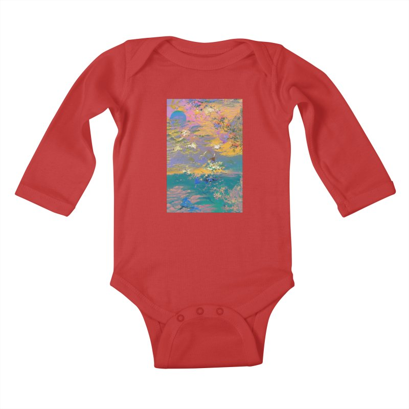 Music to breathe - Rectangle Kids Baby Longsleeve Bodysuit by Boutique