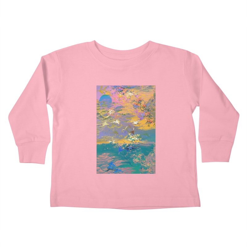 Music to breathe - Rectangle Kids Toddler Longsleeve T-Shirt by Boutique
