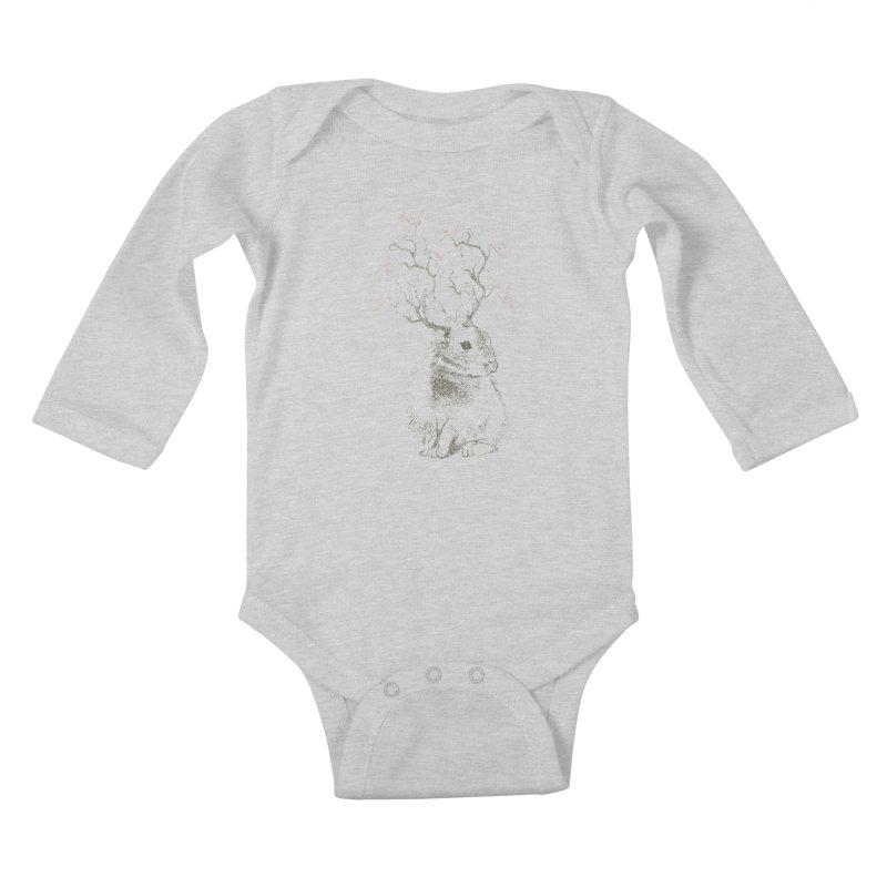 Forest Bunny Kids Baby Longsleeve Bodysuit by rosebudstudio's Artist Shop
