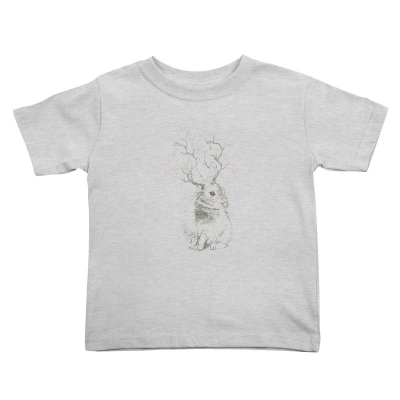 Forest Bunny Kids Toddler T-Shirt by rosebudstudio's Artist Shop