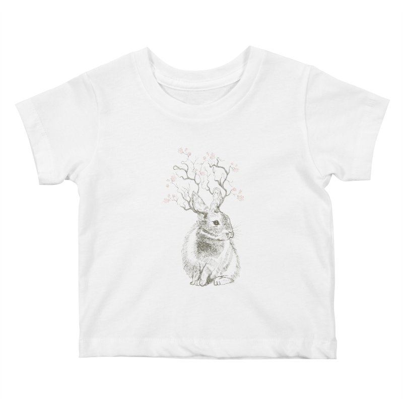 Forest Bunny Kids Baby T-Shirt by rosebudstudio's Artist Shop