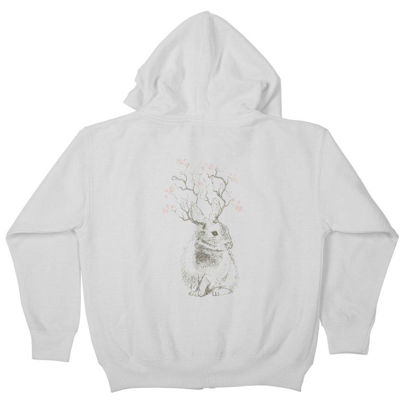 Forest Bunny Kids Zip-Up Hoody by rosebudstudio's Artist Shop