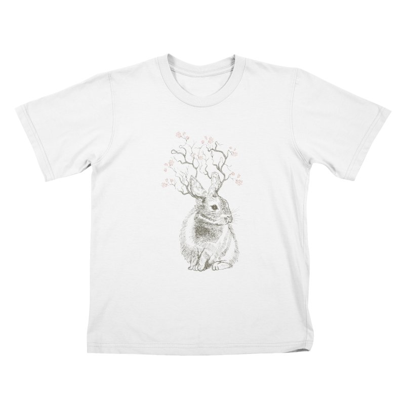 Forest Bunny Kids T-Shirt by rosebudstudio's Artist Shop