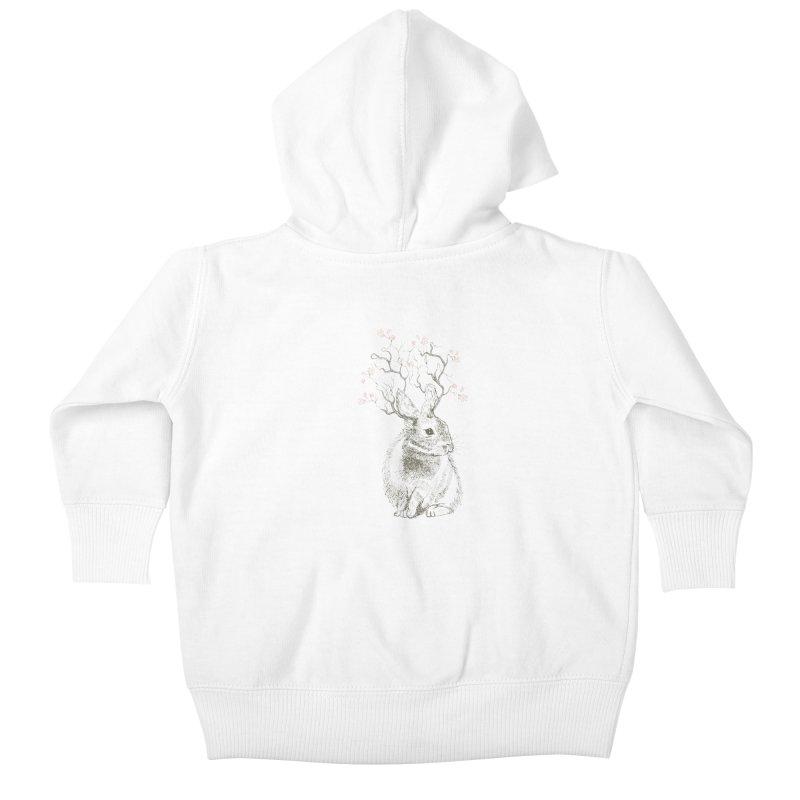 Forest Bunny Kids Baby Zip-Up Hoody by rosebudstudio's Artist Shop