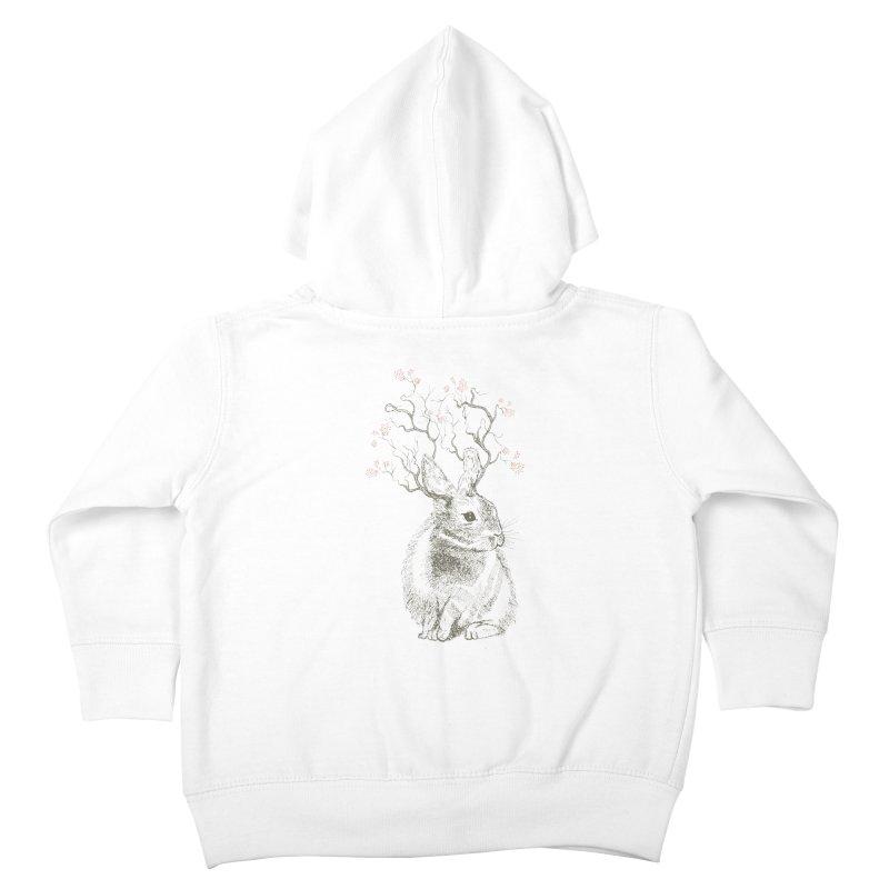 Forest Bunny Kids Toddler Zip-Up Hoody by rosebudstudio's Artist Shop