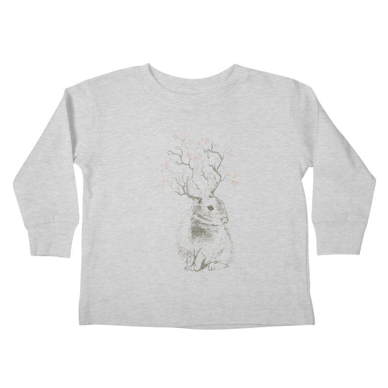 Forest Bunny Kids Toddler Longsleeve T-Shirt by rosebudstudio's Artist Shop