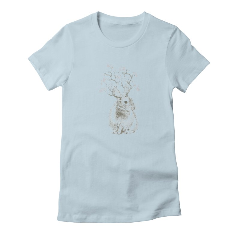 Forest Bunny Women's T-Shirt by rosebudstudio's Artist Shop