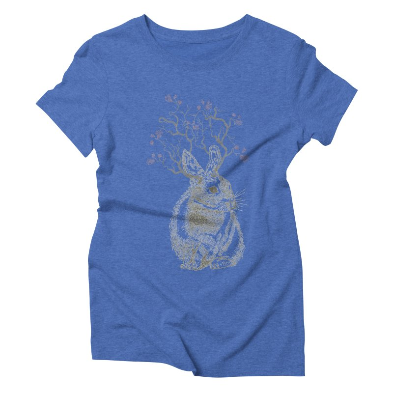 Forest Bunny Women's Triblend T-Shirt by rosebudstudio's Artist Shop