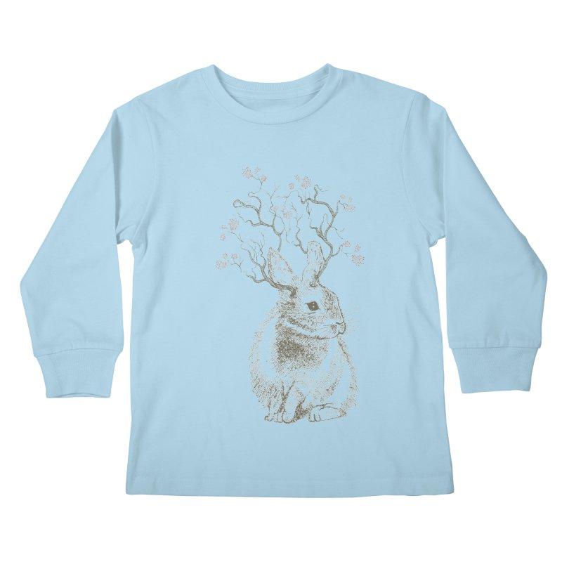 Forest Bunny Kids Longsleeve T-Shirt by rosebudstudio's Artist Shop