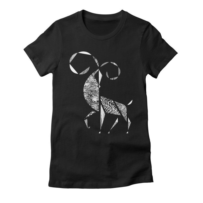 Aries Women's Fitted T-Shirt by rossbruggink's Artist Shop