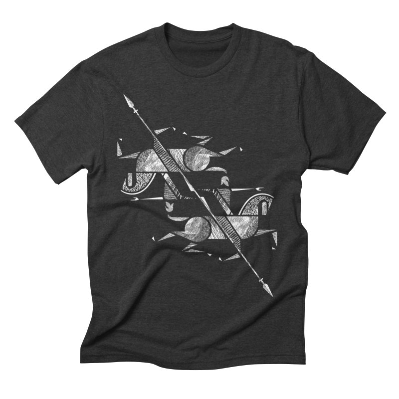 Gemini Men's Triblend T-shirt by rossbruggink's Artist Shop