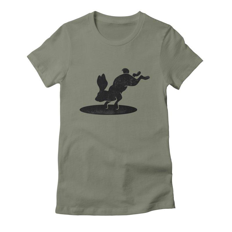Rabbit Portal Women's Fitted T-Shirt by Ross Zietz