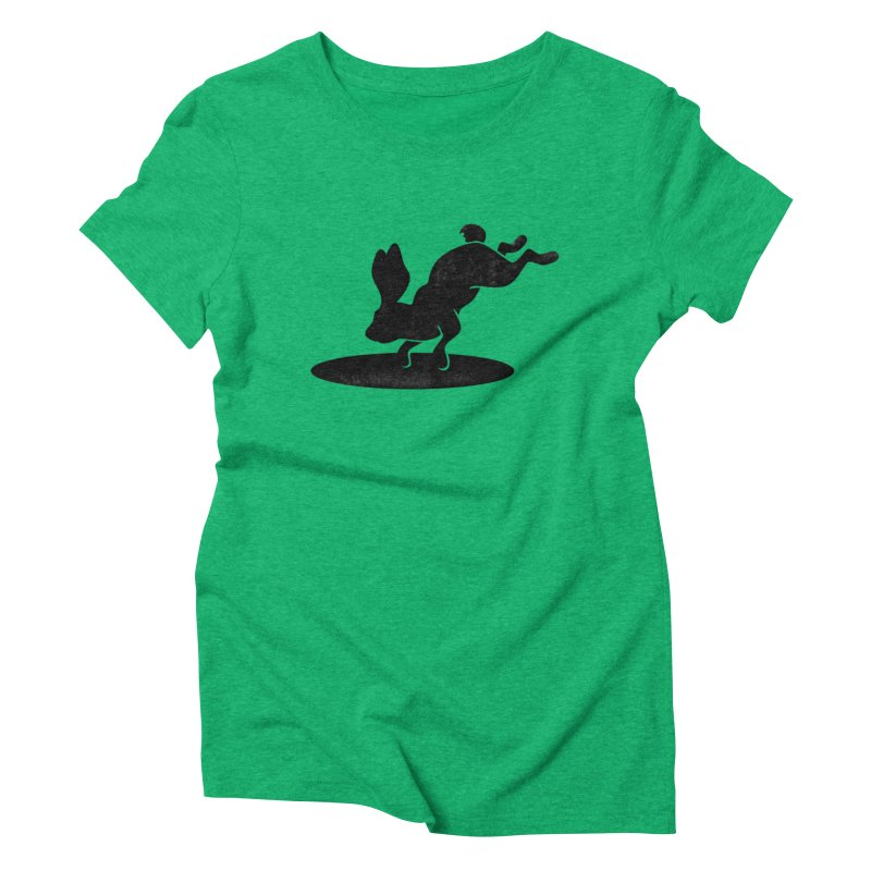 Rabbit Portal Women's Triblend T-Shirt by Ross Zietz