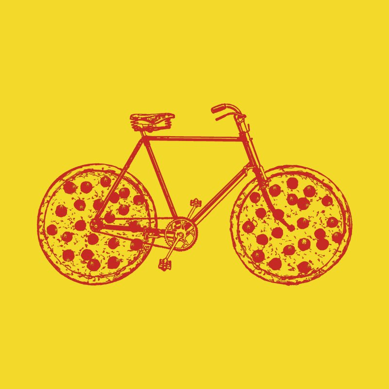 Bicycle with Pepperoni Pizza Wheels   by Ross Zietz