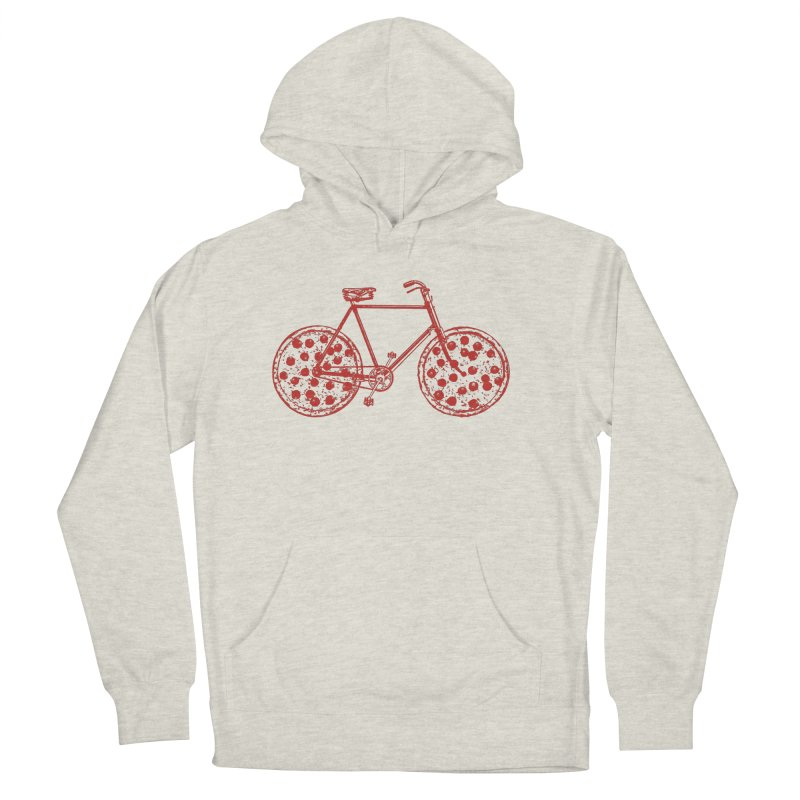 Bicycle with Pepperoni Pizza Wheels Men's Pullover Hoody by Ross Zietz