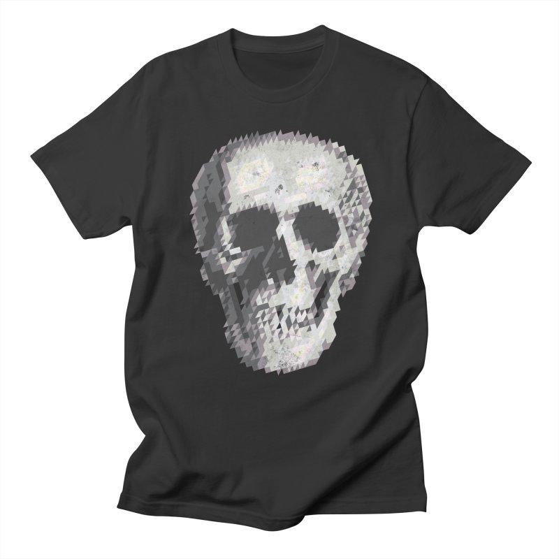 Tri-Skull Men's T-Shirt by Ross Zietz
