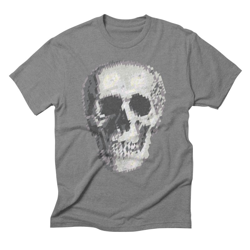 Tri-Skull Men's Triblend T-Shirt by Ross Zietz