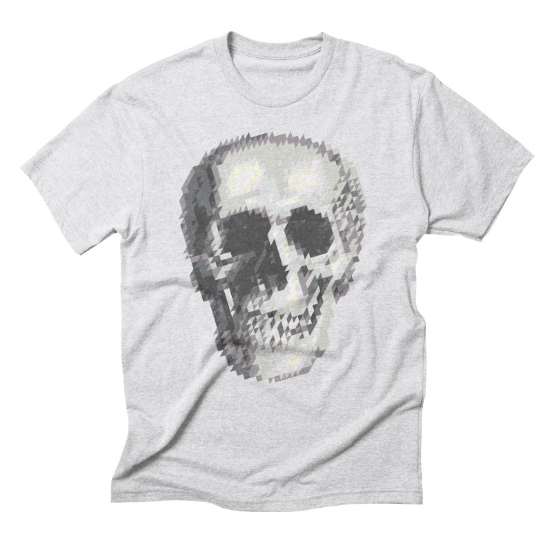 Tri-Skull Men's Triblend T-Shirt by Ross Zietz