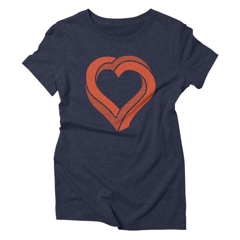 Impossible Love Women's Triblend T-Shirt by Ross Zietz