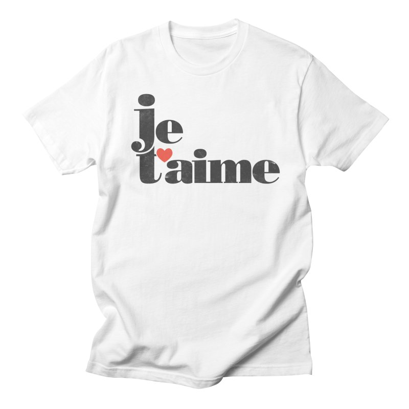 Je T'aime Men's T-shirt by Ross Zietz